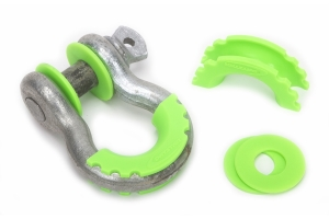 Daystar D-Ring Isolators with Washers, Fluorescent Green