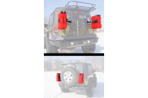 LOD Horizontal Rotopax 2/3 Gallon Container Mount Bare Steel (Part Number: )