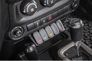 Rugged Ridge Lower Console Switch Panel  - JK 2011+