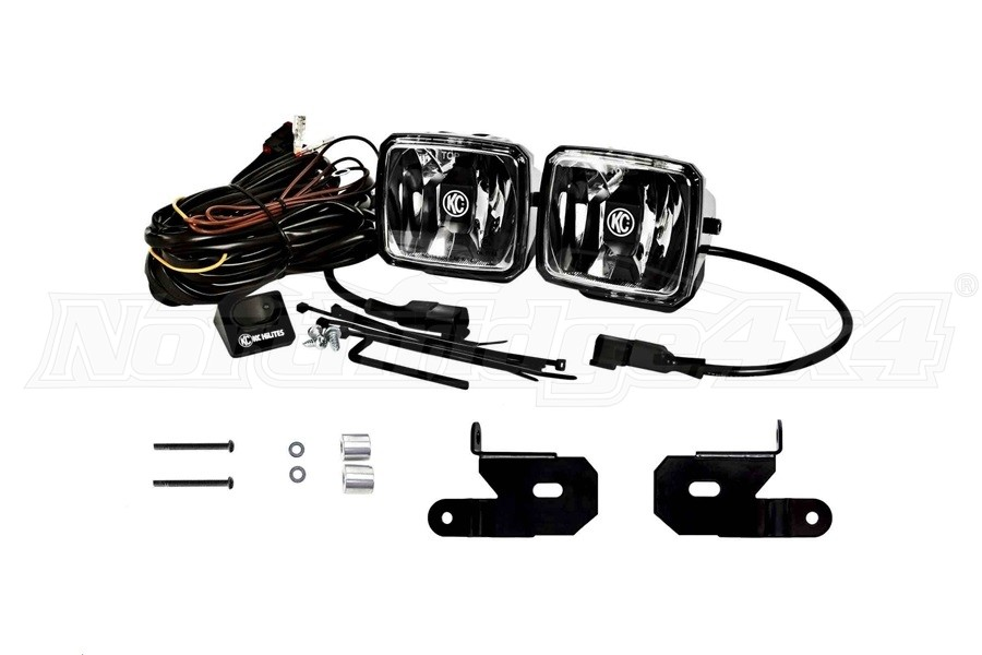 KC HiLites A-Pillar/Windshield Light Mount Kit w/Gravity LED G34 Lights - JL