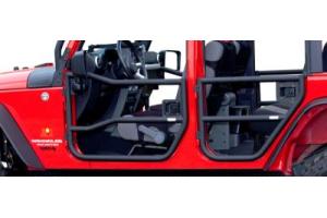 Rugged Ridge Rear Tube Doors Black - JK 4dr