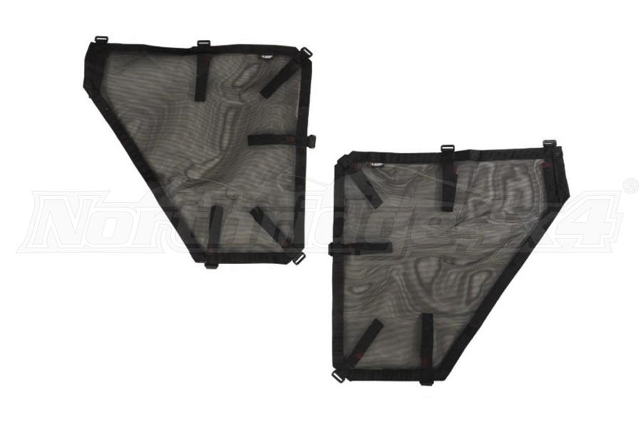 Rugged Ridge Rear Fortis Tube Door Cover Set - Black  - JK 4Dr
