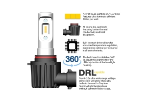 Oracle VSeries Fog Light LED Bulb Conversion Kit  - JT/JL