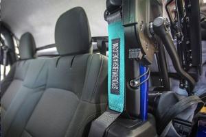 Spiderwebshade SeatBelt Silencers Teal - JL 2Dr