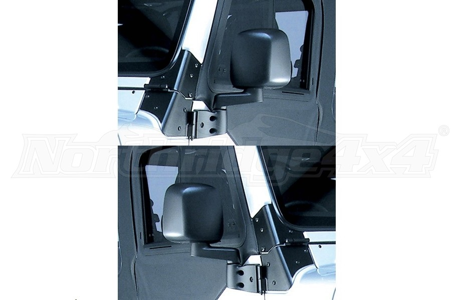 Rugged Ridge Door Mirror Kit, Black  - TJ/YJ