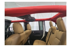 Dirty Dog 4x4 Roll Bar Cover - Red - JL 4dr w/Hard Top