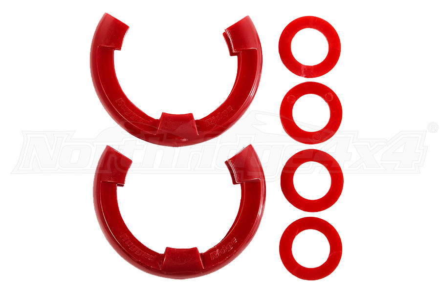 Rugged Ridge D-Shackle Isolator 3/4 Inch Kit, Red Pair  (Part Number:11235.31)
