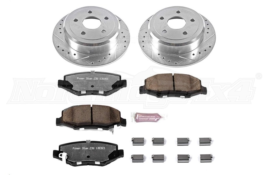 Power Stop Z36 Extreme Truck and Tow Brake Set, Rear  (Part Number:K3090-36)