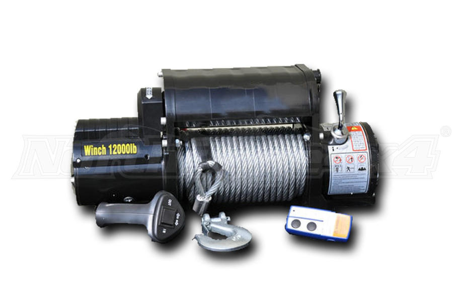 DV8 Offroad Winch w/ Steel Cable and Wireless Remote 12,000lbs (Part Number:WB12SC)