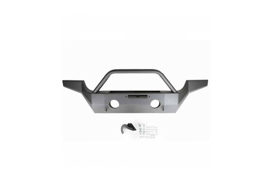 M.O.R.E. Full Width High-Clearance Front Bumper w/Tube Work (Part Number:JFB505)