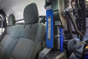 Spiderwebshade SeatBelt Silencers Blue (Part Number: )