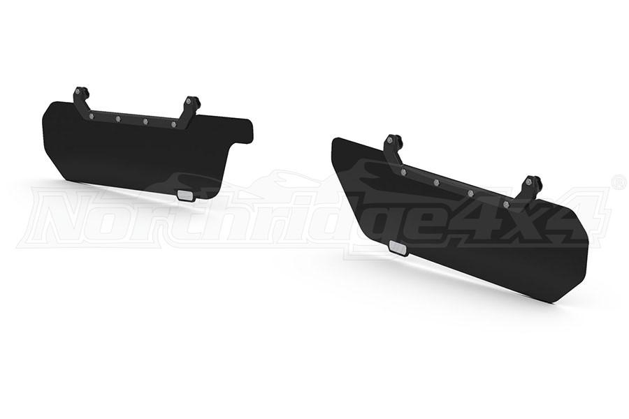 Teraflex Axis Front Secondary Opaque Black Visor Kit - pair (Part Number:4840060)