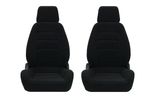 Corbeau Sport Black Cloth Seat Pair (Part Number: )