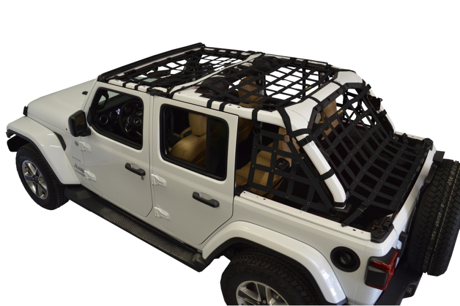 Dirty Dog 4x4 5pc Cargo Side Netting Kit, Black - JL 4Dr