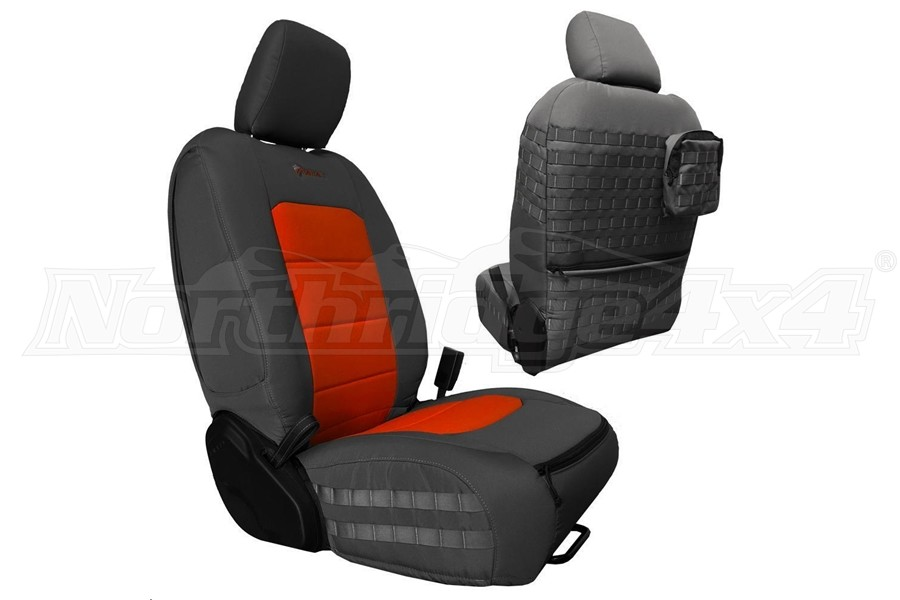 Bartact Tactical Front Seat Covers Graphite/Orange (Part Number:JLTC2018FPGN)