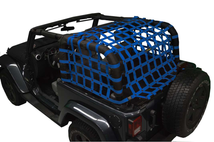 Dirty Dog 4x4 Rear Netting Blue (Part Number:J2NN07RCBL)