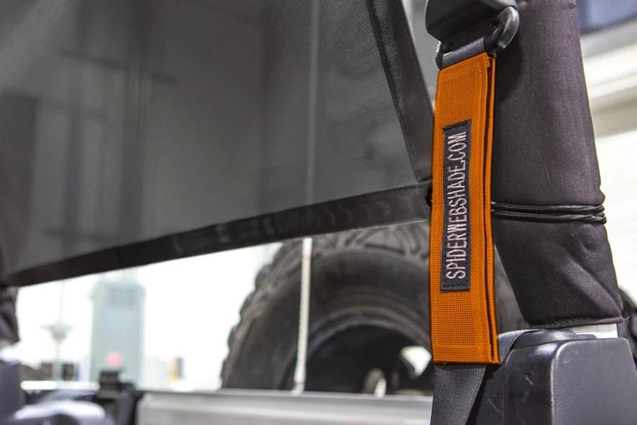 SpiderWebShade Seatbelt Silencers - Orange - JK 2Dr