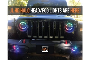 Quake LED Tempest Series 9in HD-RGB Headlights   - JL/JT