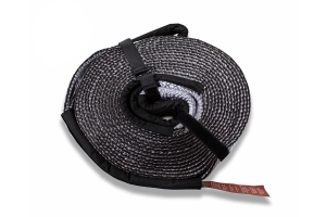 Overland Vehicle Systems Tow Strap 30000 lb. 3in x 30ft Gray With Black Ends AND Storage Bag
