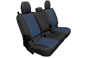 Bartact Tactical Series Rear Seat Cover, Non-Folding Arm Rest - Black/Navy   - JT