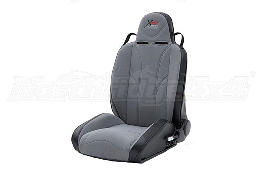 Smittybilt XRC Suspension Seat, Driver Side, Grey/Black (Part Number:750211)