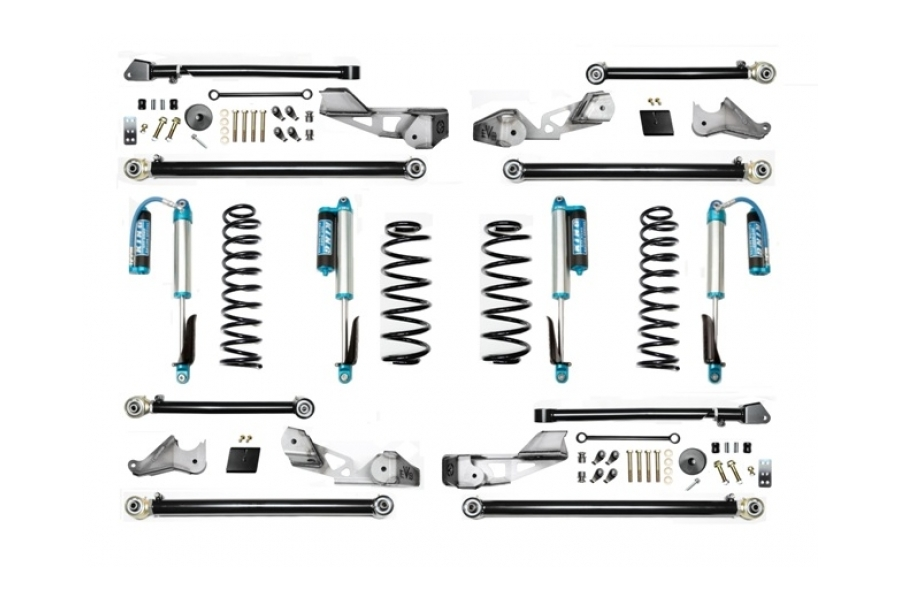 EVO Manufacturing 2.5in High Clearance Long Arm Lift Kit w/King Shocks - JL 4dr