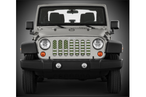 Under The Sun Inserts Olive Drab Old Glory White Stars And Stripes Grill Insert (Part Number: )