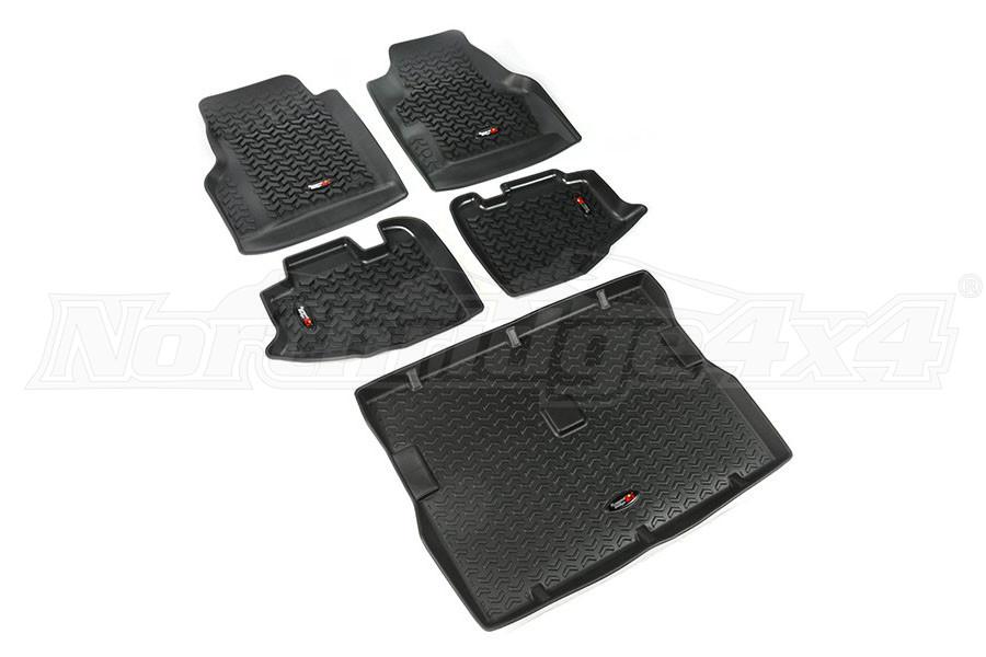 Rugged Ridge Floor Liner Kit, Black (Part Number:12988.10)