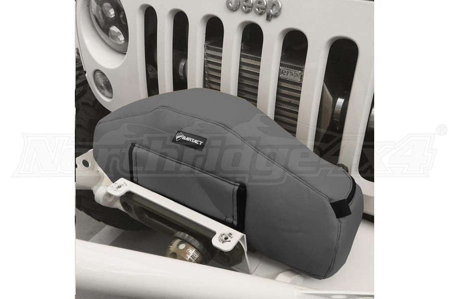 Bartact Winch Cover for Warn Zeon 10 and 12K winch, Fabric Graphite