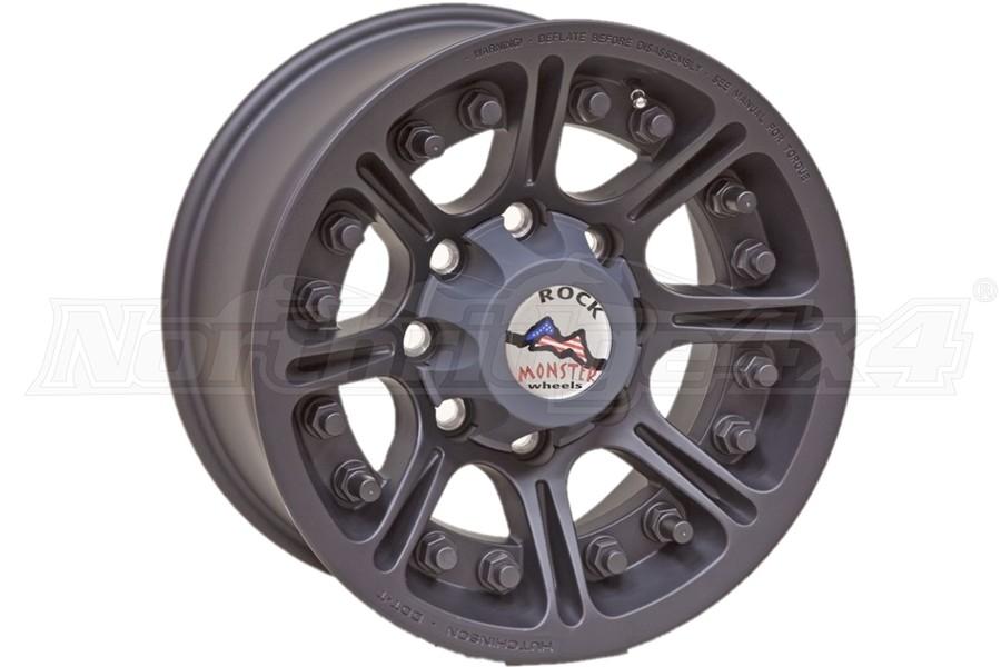 Hutchinson Rock Monster Beadlock Wheel, Matte Black 17x8.5 8x6.5