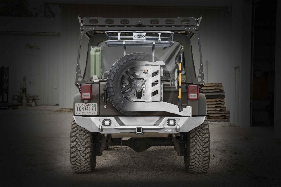 LOD Destroyer Full Width Rear Bumper w/Tire Carrier Bare Steel (Part Number:JBC0740)