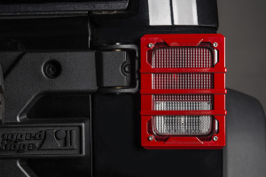 Rugged Ridge Elite Tail Light Guards, Red (Part Number: 11226.06)