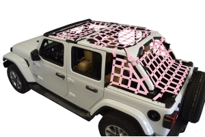 Dirty Dog 4x4 5pc Cargo Side Netting Kit, Pink - JL 4Dr