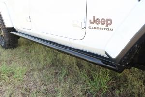 Rock Hard Patriot Series Tube Slider Rocker Guards - Angled Up - JT
