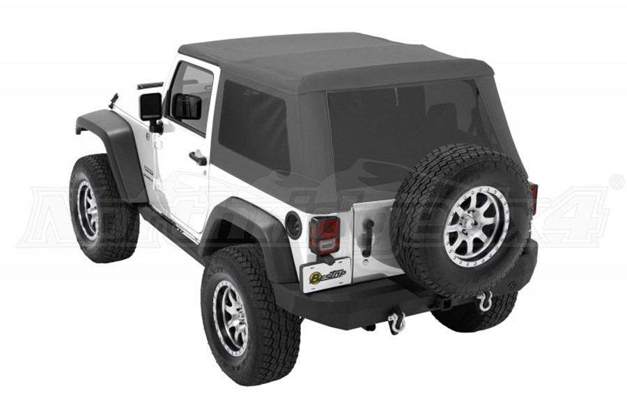 Bestop Trektop NX Glide Soft Top with Tinted Side & Rear Windows - Grey Twill (Part Number:54922-70)