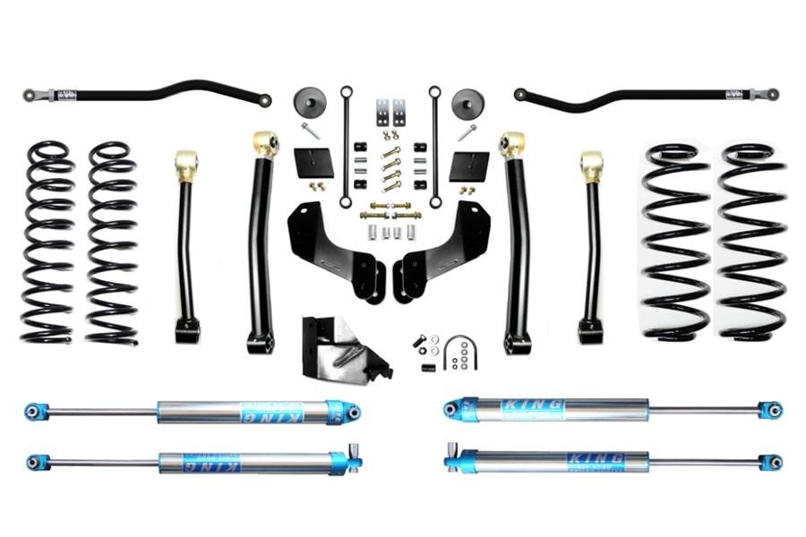 Evo Manufacturing 4.5in Enforcer Overland PLUS Stage 3 Lift Kit w/ KING 2.0 Shocks - JL 4Dr Diesel