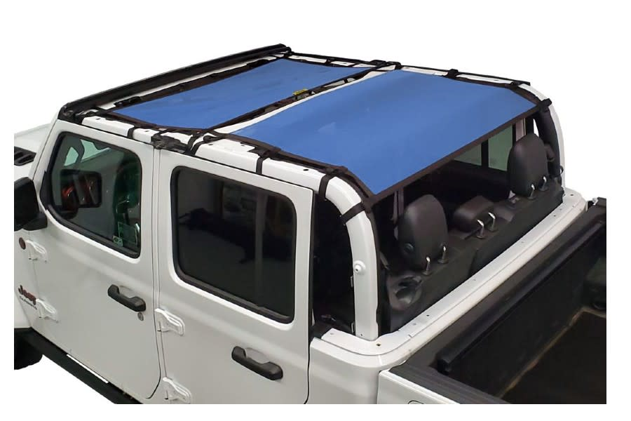 Dirty Dog 4x4 Sun Screen Front and Rear-Blue - JT