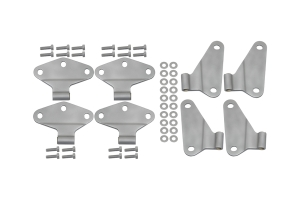 Kentrol 8-Pieces Body Door Hinge Set - Bare  - JK 4Dr