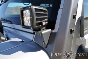 Poison Spyder Lower A-Pillar Light Mount Set - JK
