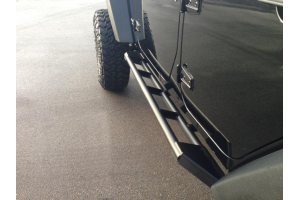 Jeep Wrangler Unlimited Towing Capacity >> Jeep JK EVO Manufacturing Rock Sliders Low Angle Step Raw - Jeep Unlimited Rubicon 2007-2018 ...