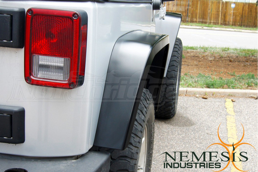 Nemesis Industries Notorious Rear Fender Flare, Texture Black Powder Coating - Aluminum (Part Number:126402)