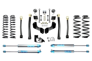 Evo Manufacturing 4.5in Enforcer Overland Stage 3 Lift Kit w/ King 2.0 Shocks - JL 4Dr Diesel
