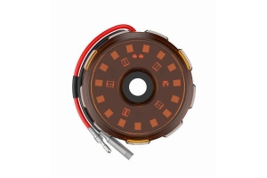 KC HiLites Cyclone V2 LED Single Light - Amber Lens
