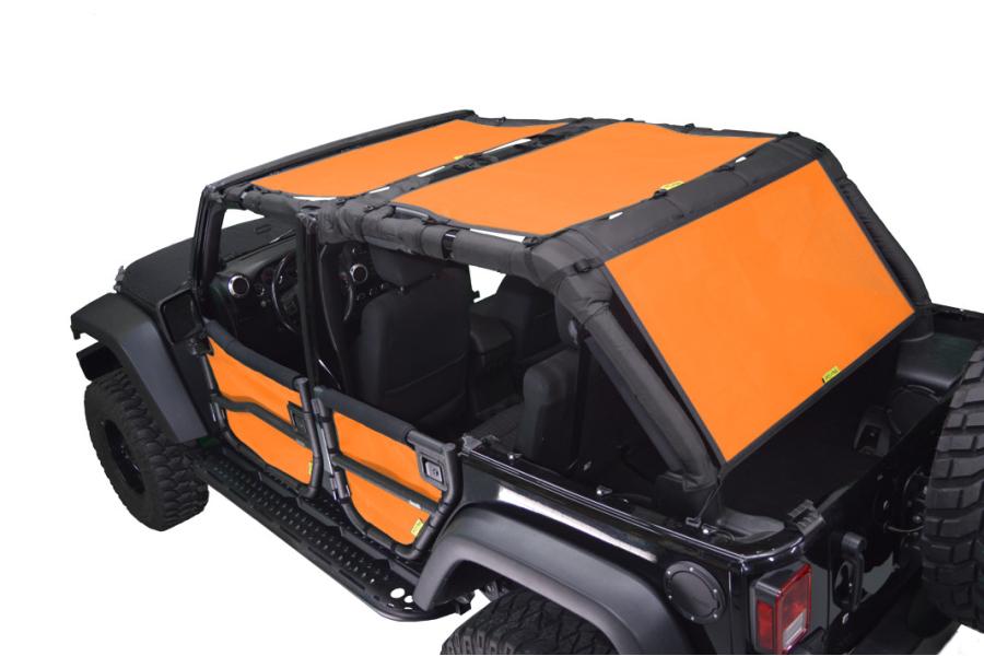 Dirty Dog 4x4 Sun Screen Cargo Area Only Orange - JK 4dr