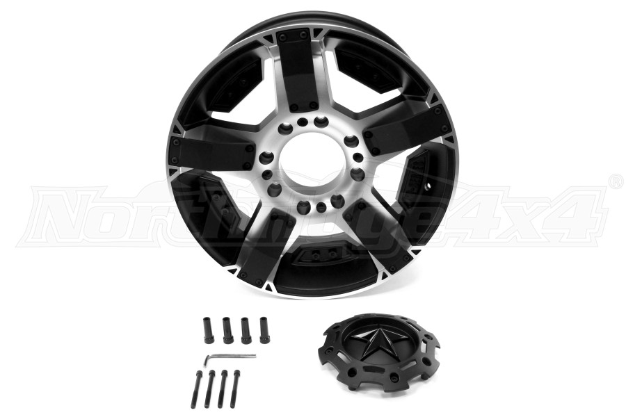 XD Wheels XD811 20X9 Wheel PVD w/Matte Black Accents 20x9 8x180 (Part Number:XD81129088518)