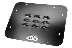JKS Louvered Tailgate Vent Cover Black (Part Number: )