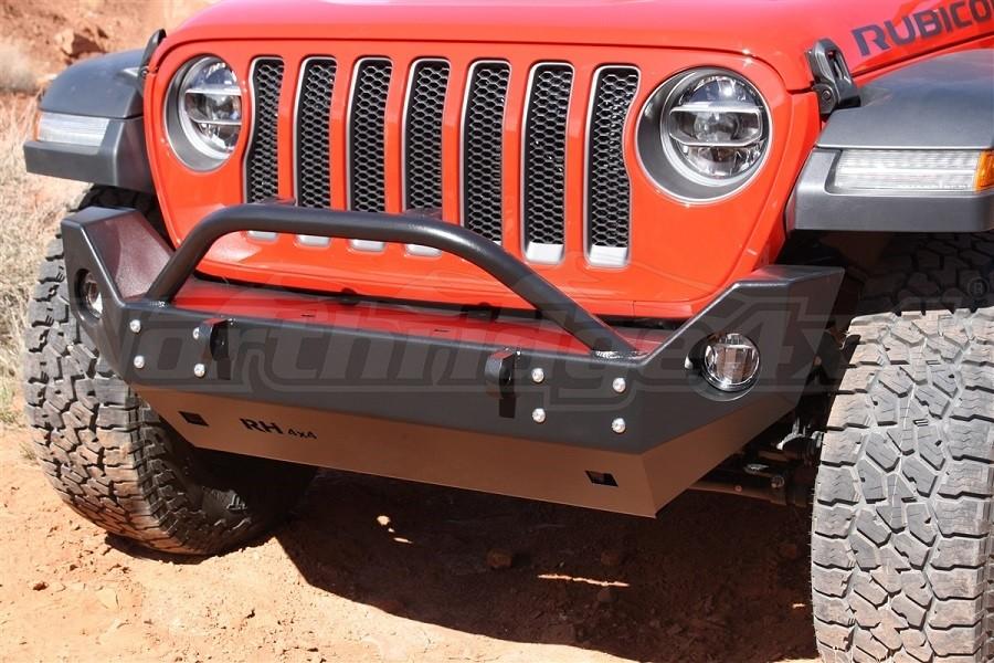 Rock Hard 4x4 Patriot Series Mid Width Front Bumper, Aluminum  - JT/JL