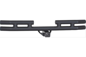 Smittybilt Rear Tubular Bumper W/Hitch Black Textured (Part Number: )