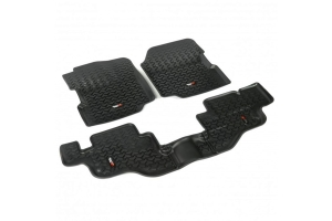 Rugged Ridge All Terrain Floor Liner Kit - Black - YJ/CJ