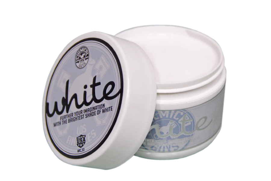 Chemical Guys White Wax For White and Light Colored Cars - 8oz